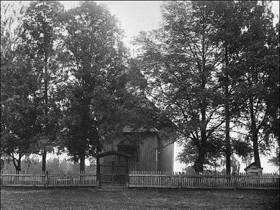 Nasilava, เบลารุส: Спаса-Преображенская церковь, 60-е годы. Взорвана.