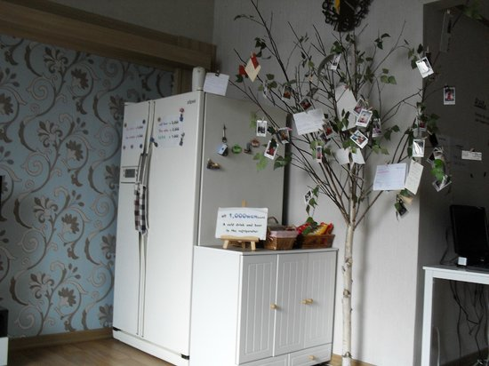 Lazy Bird Guest House: Refrigerator and snacks
