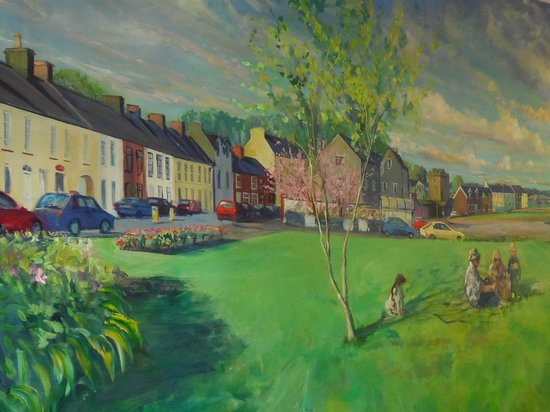 Painting of Strangford Village in the Cuan's fish & chip shop