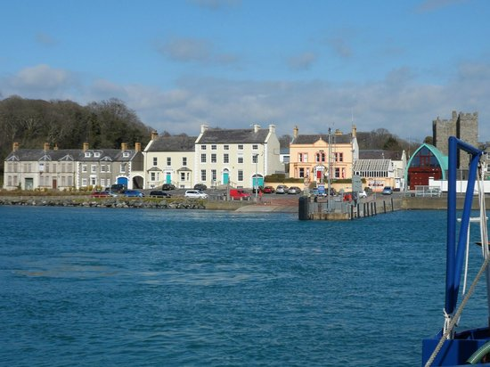 The Cuan: View of Portaferry taken on board the ferry from Strangford