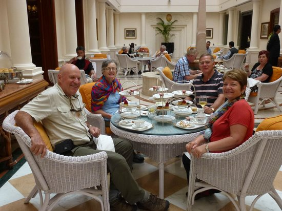 Afternoon tea at the Imperial Hotel Delhi : lovely setting