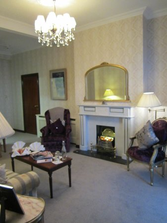 Living Room In Our Suite Picture Of Fitzpatrick Castle Hotel Dublin Killiney Tripadvisor