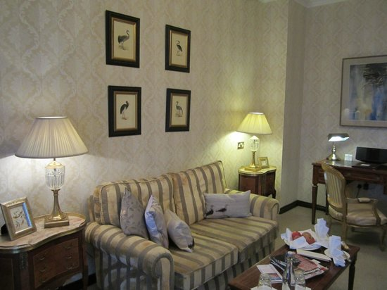 Living room in our suite picture of fitzpatrick castle hotel dublin killiney tripadvisor for The living room dublin tripadvisor