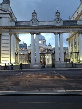 The Merrion Hotel: The view across the street