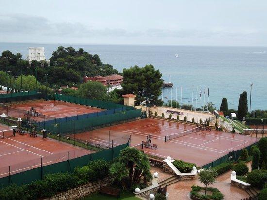 Monte Carlo Harbor: View of private sports club