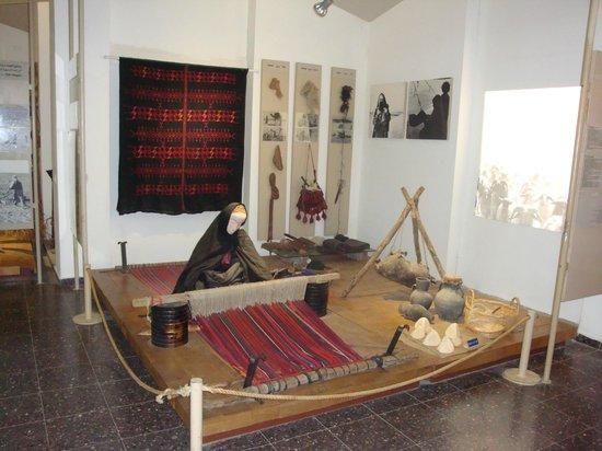 The Museum of Bedouin Culture: Bedouin woman waving