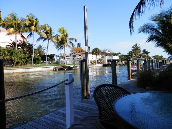 Matanzas on the Bay: View from our table looking west