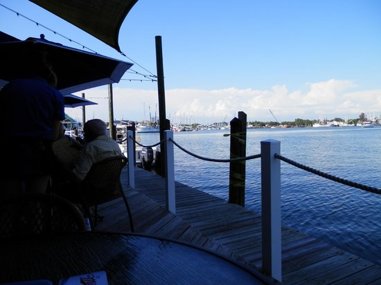 Matanzas on the Bay: View from our table toward Estero Bay