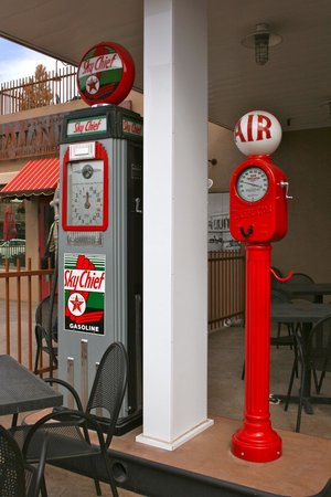 Station 66 Italian Bistro: The old gas station outside the restaurant