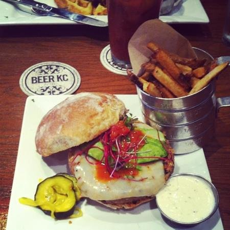 Beer Kitchen: Black Bean Burger w/ Belgian-Style Small Fry