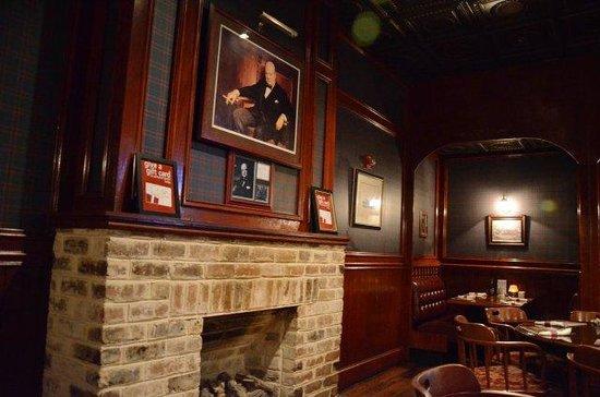 Churchill's Pub: In the back room area