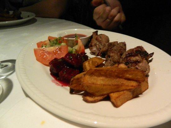 Mimino Georgian Restaurant: Lamb shashlik