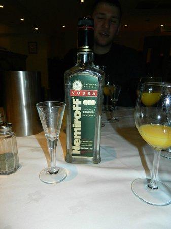 Mimino Georgian Restaurant: Nemiroff one of the best vodka