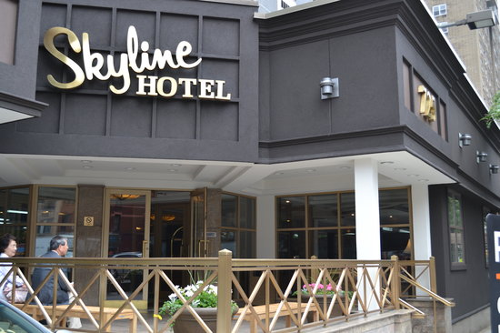 Entrance of the Skyline Hotel