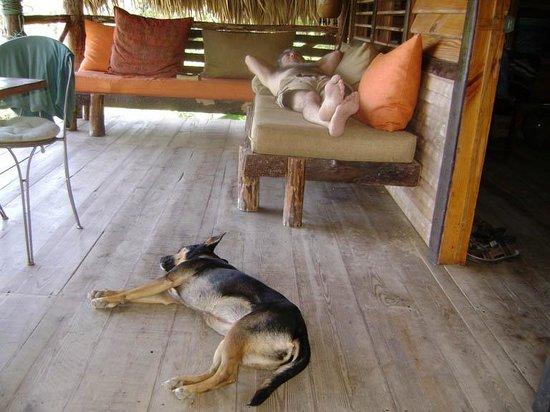 Tubagua Plantation Eco Lodge: relaxing with Tonta
