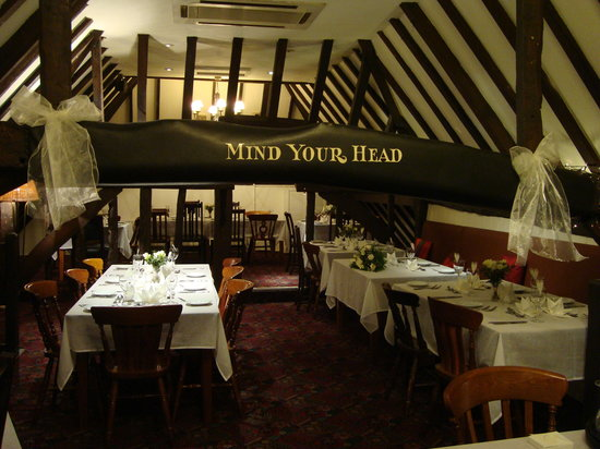 Chestfield Barn: Mind your head!