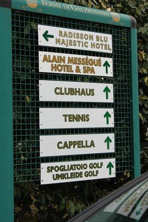 Radisson Blu Resort, Terme di Galzignano - Hotel Majestic: Outside sign