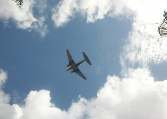 Shula's Hotel & Golf Club: One of the planes flying over the hotel