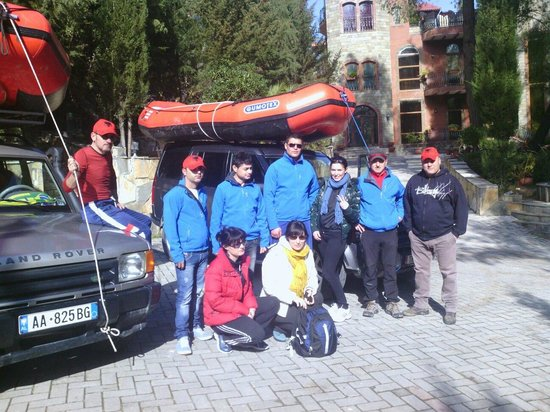 Castle Park: Getting ready to go rafting