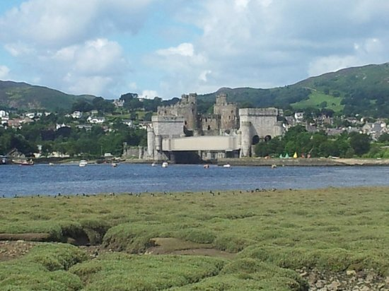 RSPB Conwy Nature Reserve : Looking towards Conwy Castle