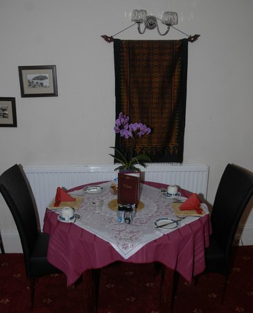 Marlborough House Hotel: Table for 2