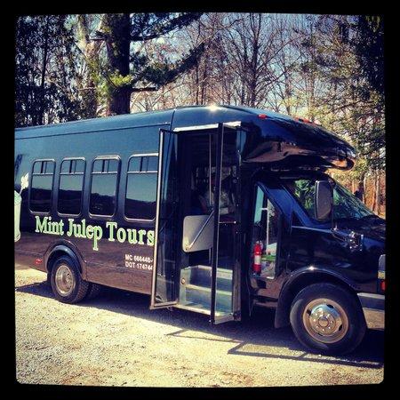 Mint Julep Tours: 14 passenger at Jim Beam