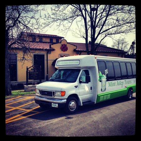 Mint Julep Tours: Mint Julep bus at Four Roses