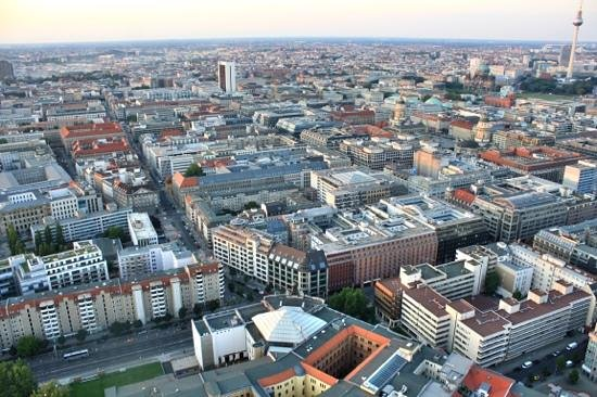 Berlin City Tours: Air balloon view of Berlin.