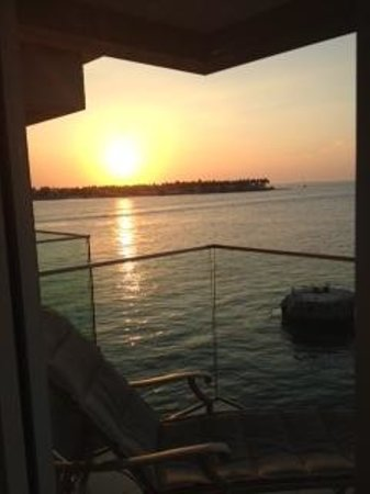 Pier House Resort & Spa: view from balcony sunset