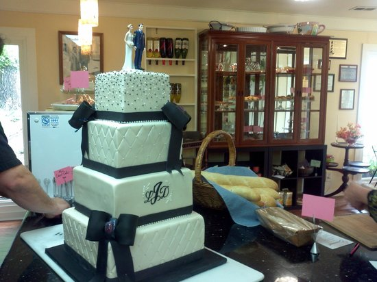 Greenock Bakery: A Wedding cake ready for delivery.