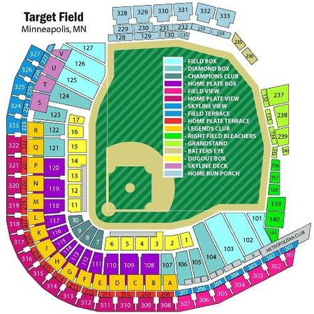 Twins Stadium Map Target Field seating chart   Picture of Target Field, Minneapolis