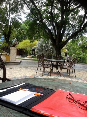 Karibe Hotel: Terrasse et jardins