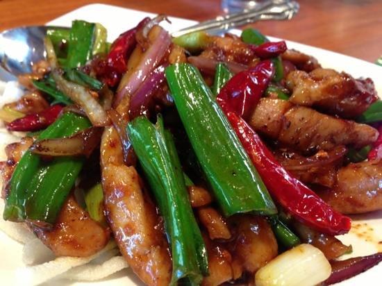 Steam: Szechuan chicken