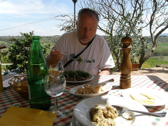 Ristorante Fattoria Mugnano: My husband enjoying a delicious lunch.