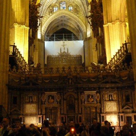 Interno della cattedrale fotograf a de catedral de - Catedral de sevilla interior ...