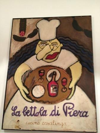 la bettola di piero: Dipinto dedicato alla Sig. Mirella, moglie di Piero.