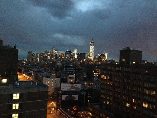 The Standard, East Village: from the room at night