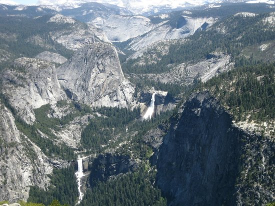 Yosemite Close Up Tours: View of Nevada and Vernal Falls
