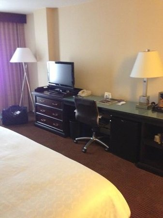 Sheraton Dallas Hotel by the Galleria: Small TV