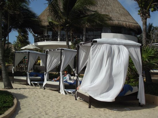 The Reef Playacar: beach beds