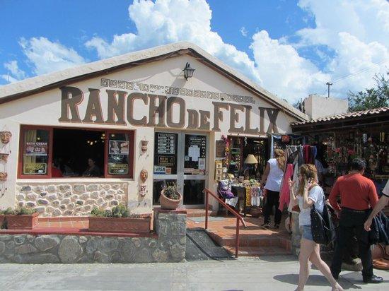 Rancho de Felix : frente del restaurant