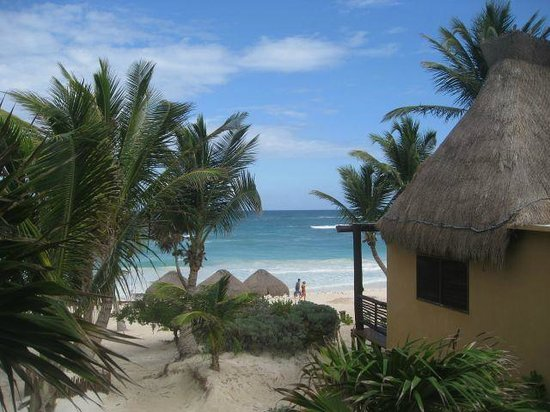 Hip Hotel Tulum: Beach view