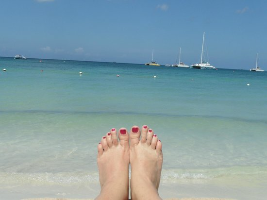 Sandals Negril Beach Resort & Spa: My feet from my chair