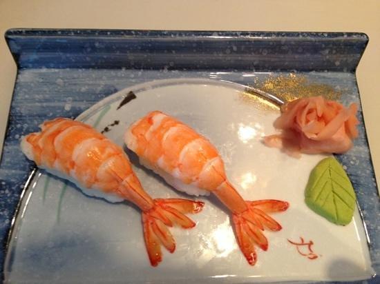 FujiYama: prawn sushi