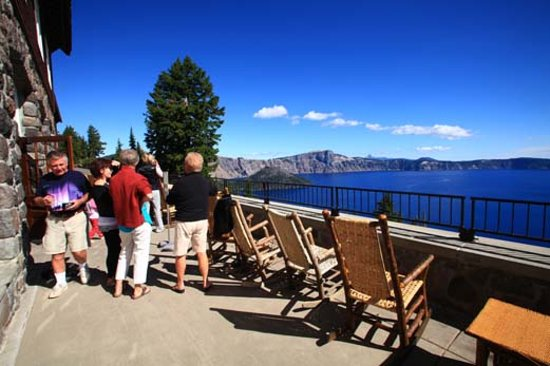 Summer view from the Lodge at Crater Lake National Park