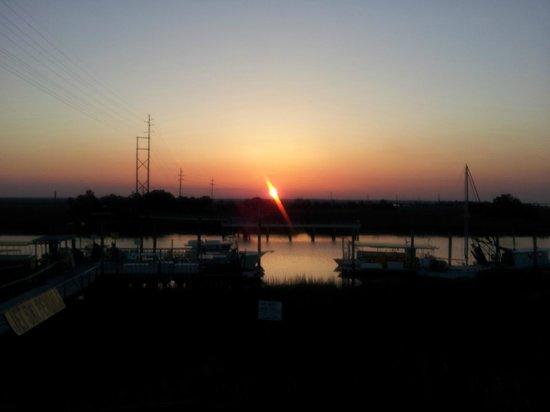 Spanky's Beachside: Sunset over Tybee Island