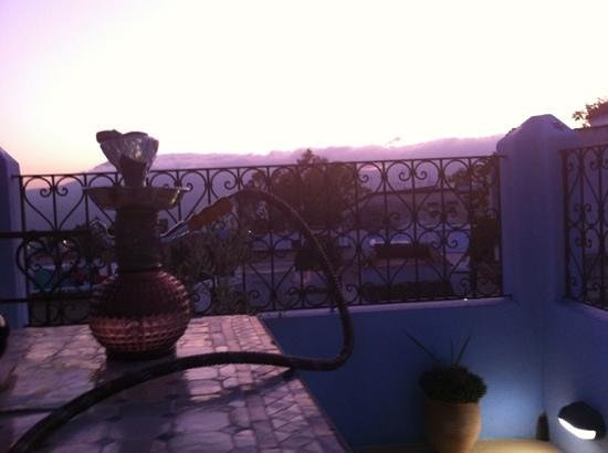 Riad Baraka: smoking my water pipe on the gorgeous terrace