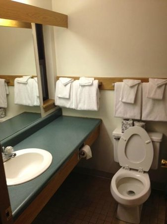 The Lodge at Bretton Woods: Clean bathroom, enough towels