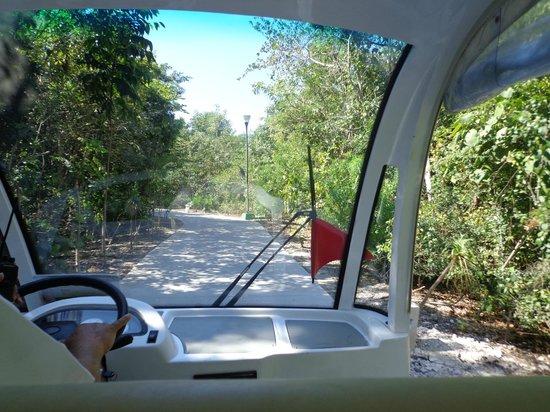 Ocean Breeze Riviera Maya Hotel: Carrito camino a la playa
