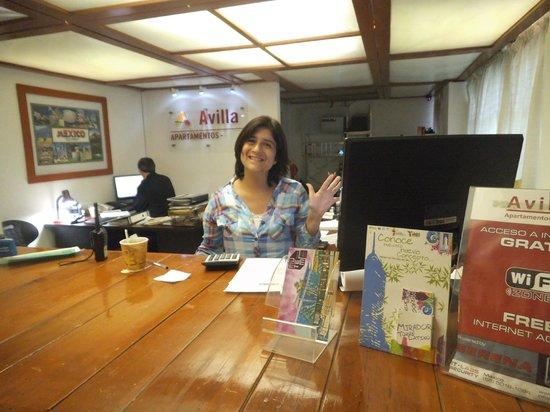 Apartamentos-Hotel Avilla : Me prestaron amablemente la computadora de recepcion